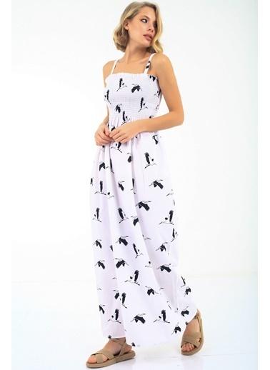 Emjey Smorg Dikişli Straplez Askılı Elbise Siyah